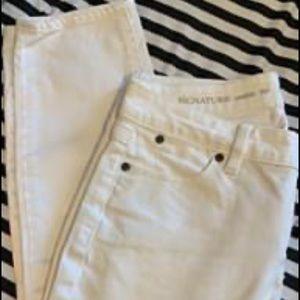 Talbots White Skinny Ankle Jeans Sz 8P